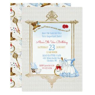 Alice in Wonderland Watercolor Card