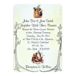 alice in wonderland wedding invitations Wedding
