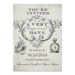 "Alice in Wonderland Wedding Invitation 5"" X 7"" Invitation Card"