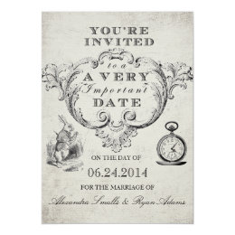 Superieur Alice In Wonderland Wedding Invitation ...