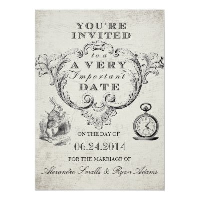 Alice In Wonderland Wedding Rsvp Cards Zazzle Com