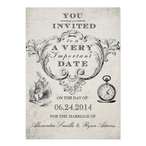 alice in wonderland wedding invitation use these wedding invitations ...