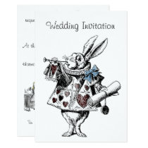 Alice in Wonderland Wedding Invitation Card