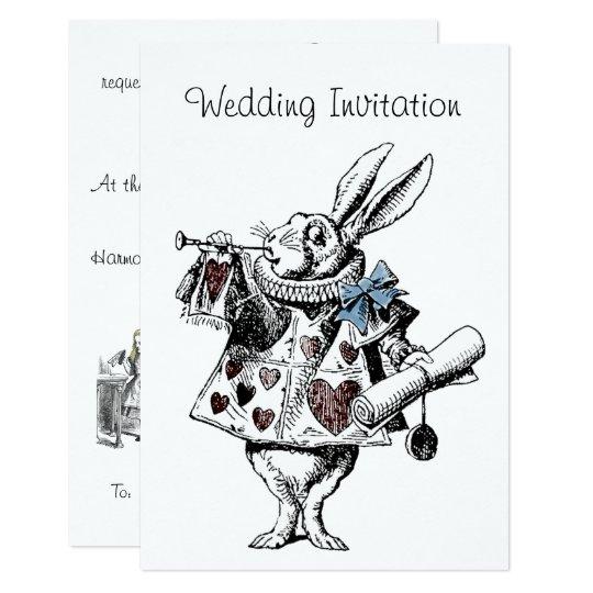 Alice In Wonderland Wedding Invitation Card