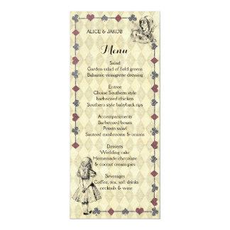 Alice in Wonderland Wedding Menu - Mad Hatter Tea Card