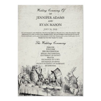 alice in wonderland wedding invites Wedding