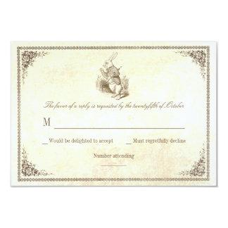 alice in wonderland wedding rsvp cards - Alice In Wonderland Wedding Invitations