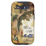 Alice in Wonderland Were All Mad Here Samsung Galaxy SIII Covers