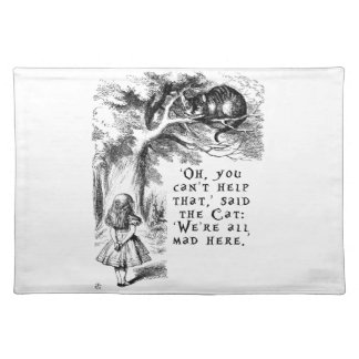 Alice in Wonderland - We're all mad here Cloth Placemat