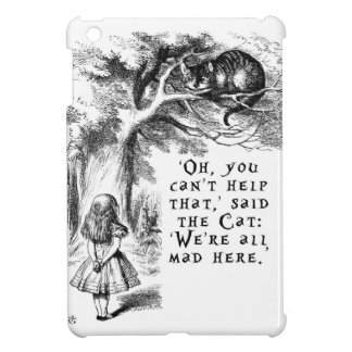 Alice in Wonderland - We're all mad here Cover For The iPad Mini