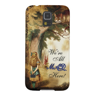 Alice in Wonderland Were All Mad Here Galaxy S5 Cover