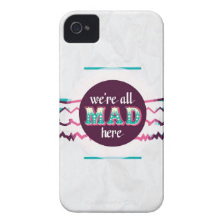 Alice in Wonderland - We're All Mad Here iPhone 4 Case-Mate Cases