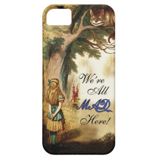 Alice in Wonderland Were All Mad Here iPhone SE/5/5s Case