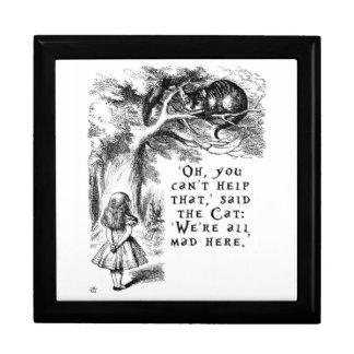 Alice in Wonderland - We're all mad here Keepsake Box