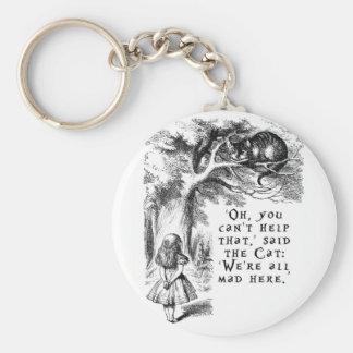 Alice in Wonderland - We're all mad here Keychain