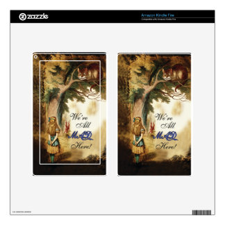 Alice in Wonderland Were All Mad Here Skin For Kindle Fire
