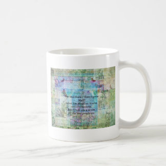 Alice in Wonderland Whimsical Bonkers Quote Coffee Mug