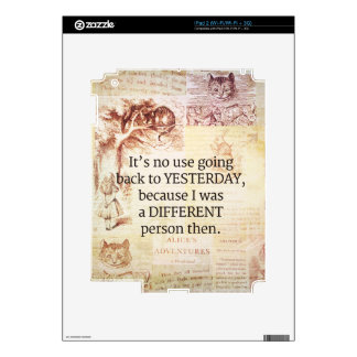 Alice in Wonderland Whimsical Quote Decals For iPad 2