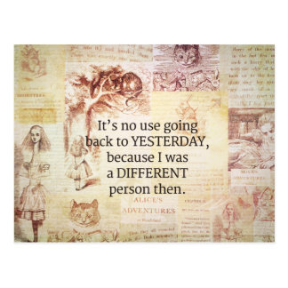 Alice in Wonderland Whimsical Quote Postcard