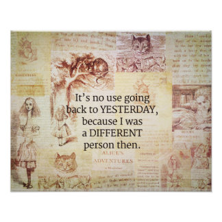 Alice in Wonderland Whimsical Quote Poster