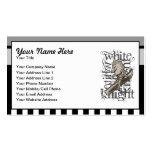 Alice In Wonderland White Knight Grunge Business Card
