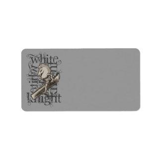 Alice In Wonderland White Knight Grunge Label