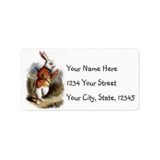 Alice in Wonderland White Rabbit Address Labels