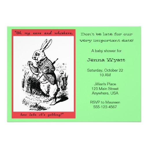 Alice in Wonderland - White Rabbit Announcement