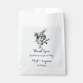 Alice in Wonderland White Rabbit Art Favor Bag