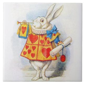 Alice in Wonderland White Rabbit Art Tile Trivet