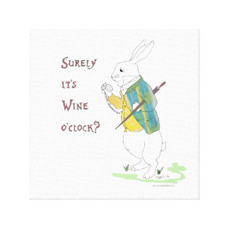 Alice in Wonderland White Rabbit. Canvas Print