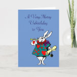 "Alice in Wonderland: White Rabbit Card<br><div class=""desc"">Alice in Wonderland Happy Birthday Card</div>"