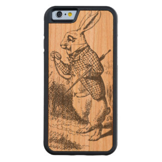 Alice In Wonderland: White Rabbit Carved® Cherry iPhone 6 Bumper Case