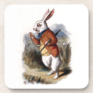 Alice in Wonderland White Rabbit Coaster Set