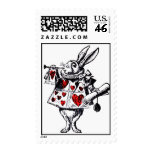 Alice in Wonderland White Rabbit Colorized Postage Stamp