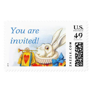 Alice in Wonderland White Rabbit Custom Large Postage