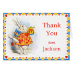 Alice in Wonderland White Rabbit Custom Thank You Stationery Note Card