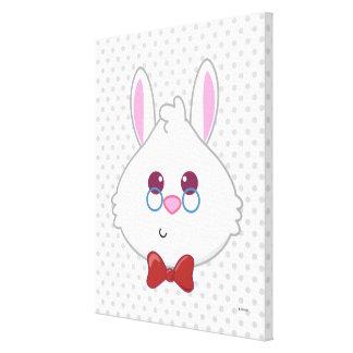 Alice in Wonderland   White Rabbit Emoji 4 Canvas Print