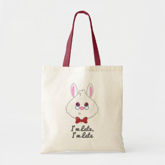 Alice in Wonderland | White Rabbit Emoji Tote Bag