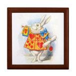 Alice in Wonderland White Rabbit Gift Jewelry Box