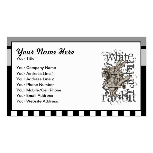 Alice In Wonderland White Rabbit Grunge Business Card Templates