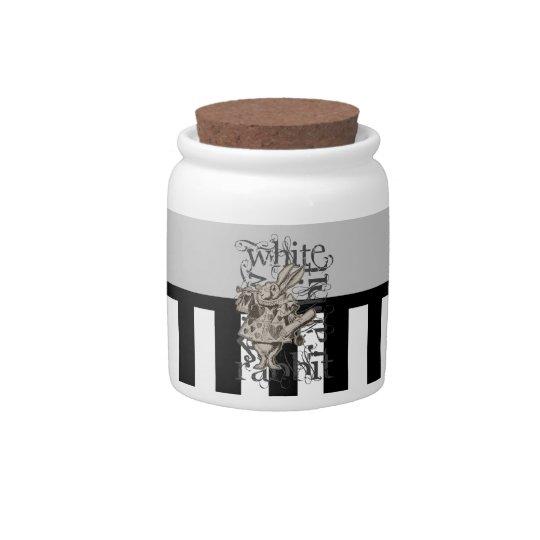 Alice In Wonderland White Rabbit Grunge Candy Dishes