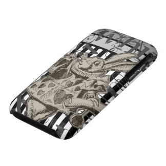 Alice In Wonderland White Rabbit Grunge iPhone 3 Case-Mate Case