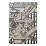 Alice In Wonderland White Rabbit Grunge Cover For The iPad Mini