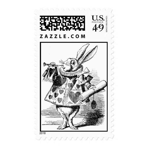 Alice In Wonderland White Rabbit Herald Stamp