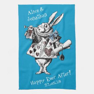 Alice in Wonderland White Rabbit Kitchen Towel