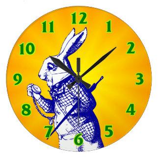 Alice in Wonderland White Rabbit Large Clock
