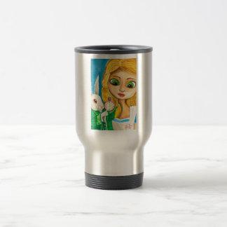 ALICE IN WONDERLAND WHITE RABBIT COFFEE MUG