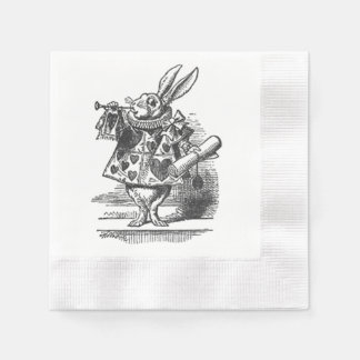 alice in wonderland white rabbit napkin