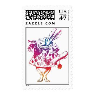 Alice in Wonderland White Rabbit Postage Stamp